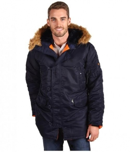 Куртка Alpha Industries Slim Fit N-3B Parka Цвет Черный, Размер L