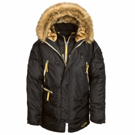 Куртка Alpha Industries N-3B Inclement Цвет Черный, Размер XXL